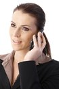 Businesswoman speaking on phone Stock Image