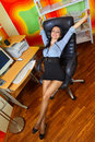 Businesswoman stretching Royalty Free Stock Photography