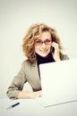 Businesswoman taking telephone call Royalty Free Stock Photo