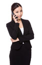 Businesswoman talk to phone Royalty Free Stock Photo