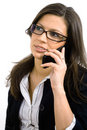 Businesswoman talking on mobile Stock Image