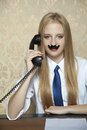 Businesswoman talking on the phone business woman Stock Image