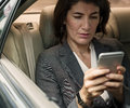 Businesswoman Talking Using Phone Car Inside Concept