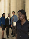 Businesswoman team lead Royalty Free Stock Image