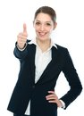Businesswoman with thumb up Stock Image