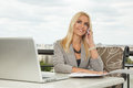 Businesswoman Using Mobile Phone Royalty Free Stock Photography