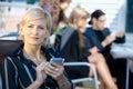 Businesswoman using smart phone Royalty Free Stock Photo