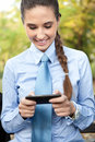 Businesswoman using smart phone Royalty Free Stock Image