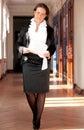 Businesswoman walking through Royalty Free Stock Photo