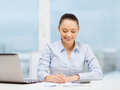Businesswoman working with documents in office Royalty Free Stock Photo