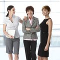 Businesswomen of diverse age team portrait group Stock Photo