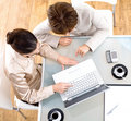 Businesswomen using laptop computer Royalty Free Stock Photo