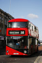Buss nya london Royaltyfri Bild