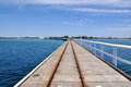 Busselton jetty diminishing perspective wa australia january tourist attraction in with an indian ocean seascape in Stock Images