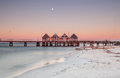 Busselton jetty the longest in the southern hemisphere at sunset Royalty Free Stock Image