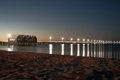 Busselton jetty at twilight a long wooden with light posts western australia Royalty Free Stock Photos