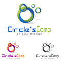 Bussines logo concept symbol colorful d circle illustration Royalty Free Stock Image