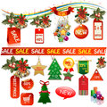 Bussines marketing banners and tags very important for shops supermarkets places sale discount price down exclusive save off new Royalty Free Stock Images