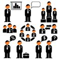 Bussiness icons Stock Images