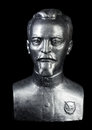 Bust of felix dzerzhinsky on a black background Royalty Free Stock Image