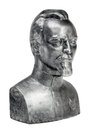 Bust of felix dzerzhinsky on a white background Stock Image