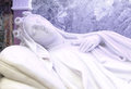 Bust of a feminine statue the sleep of death detail made white marble from baroque church st teresa in palermo landscape cut Stock Photo