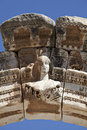 Bust of Hadrian's Arch, Ephesus Royalty Free Stock Photo