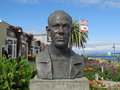 Bust of john steinbeck monterey ca may author located in monterey california Stock Images