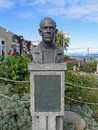 Bust of john steinbeck monterey ca may author located in monterey california Royalty Free Stock Photos
