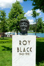 Bust of roy black in velden am worthersee austria he was one the most popular german schlager singers his real name was gerhard Royalty Free Stock Photography