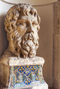 Bust statue. Bust sculpture within Villa D Este Royalty Free Stock Photo