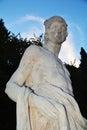 Bust statue in Castelfranco Veneto, Treviso, Italy Royalty Free Stock Photo
