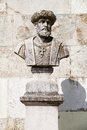 Bust of Vasco da Gama in the San Pedro de Alcantara Garden. Lisb Royalty Free Stock Photo