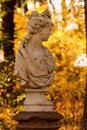 Bust of a woman in park Royalty Free Stock Images
