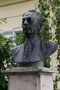 The bust of the writer ivan bunin in yelets yeletc russia september ancient city russia administrative center district lipetsk Stock Image