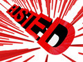Busted banner Royalty Free Stock Images