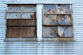 Busted Windows Blight Royalty Free Stock Photo