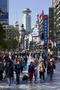 The bustling business district of Nanjing Road Wes Stock Images