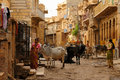 Bustling street in india jaisalmer april hindu jaisalmer kolkata april Royalty Free Stock Photos