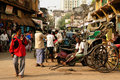 Bustling street in india kolkata december hindu kolkata kolkata december Royalty Free Stock Photography