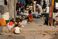 Bustling street in india kolkata december indian children playing on the kolkata kolkata december Stock Photography