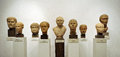 Busts of Roman citizens, marble sculptures Royalty Free Stock Photo