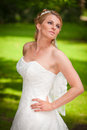Busty bride nice cleavage Royalty Free Stock Photography