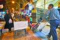 The busy alley of Vakil Bazaar, Shiraz, Iran Royalty Free Stock Photo