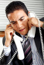 Busy business man Stock Photography