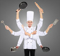 Busy chef concept Royalty Free Stock Photos