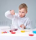 Busy chemist Stock Images