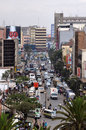 The busy city of niarobi nairobi a place with lot s traffic people and buildings Royalty Free Stock Images