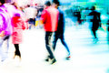 Busy city pedestrian people crowd Royalty Free Stock Images