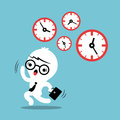 Busy concept running out of time business cartoon Royalty Free Stock Photo